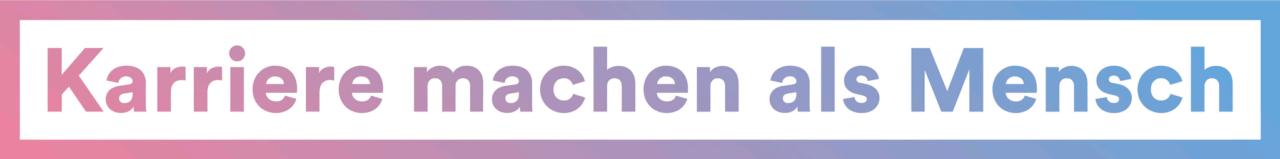 Farbiges Logo lang für die Kampagne der Langzeitpflege Karriere machen als Mensch.